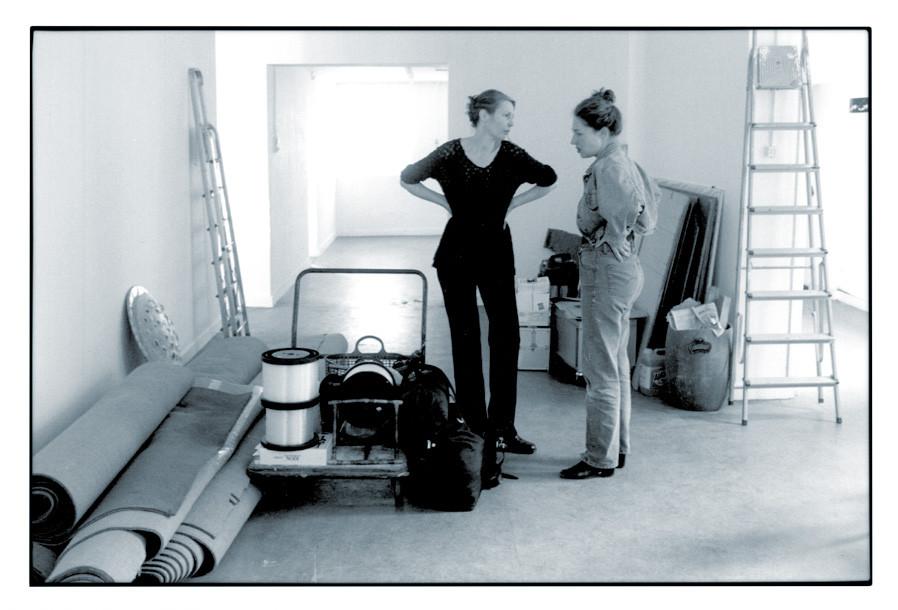 1999 DELOCATION, Lichtinstallation im Kulturzentrum Sittard, Aufbau mit Heike Kern (NL) © ?