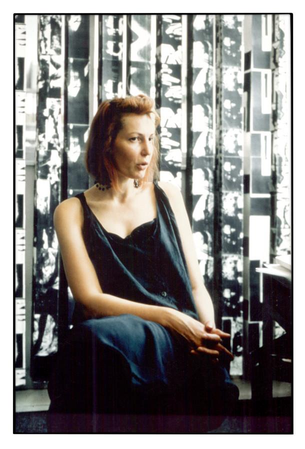 """1990 im Atelier, Interview für den """"Auftritt"""" © U. Wenzel"""