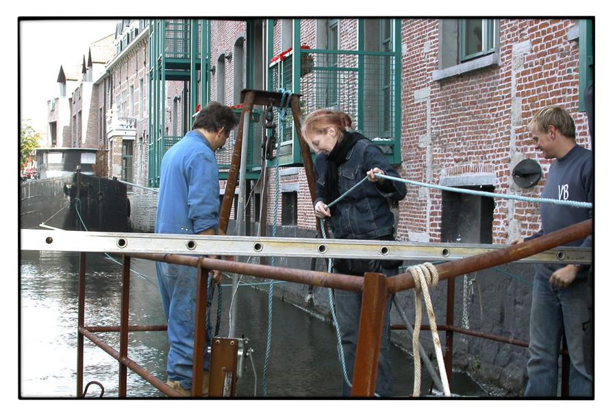2005 THE DIJLE PROJECT, Mechelen, Aufbau © A. Venneman