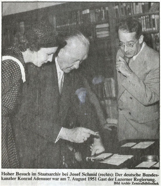 Konrad Adenauer zu Besuch bei Dr. Josef Schmid