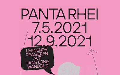 Ausstellung «Panta rhei»: Lernende der Fachklasse Grafik reagieren mit eigenen Werken auf Hans Ernis Wandbild