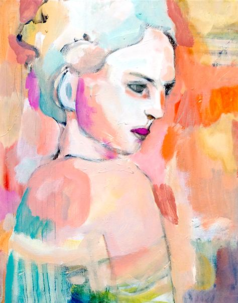Stephanie Nückel     Summerwine    Acryl /Leinwand   60 x 40 cm    2017