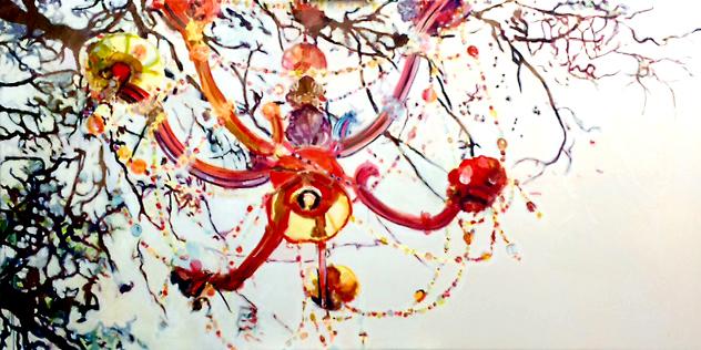 Stephanie Nückel     Enjoy life  260 x 140 cm   Acryl auf Leinwand  2016  für Restaurant Kreuzberger Himmel