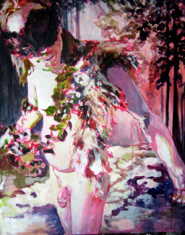 Stephanie Nückel     Faun    120 x 100 cm  Acryl auf Malgrund  2011
