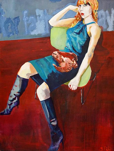 Stephanie Nückel  Kali 2020    150 x 120 cm    Acryl auf Leinwand     2009/2019