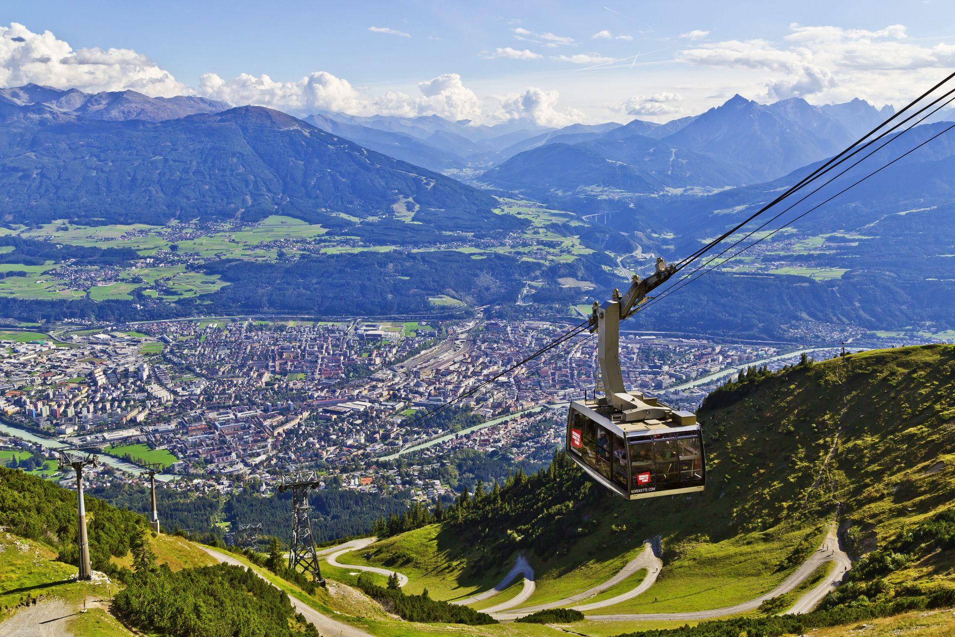 ... und auf dem Berg endet sie. (Foto: Innsbruck Tourismus/Christof Lackner)