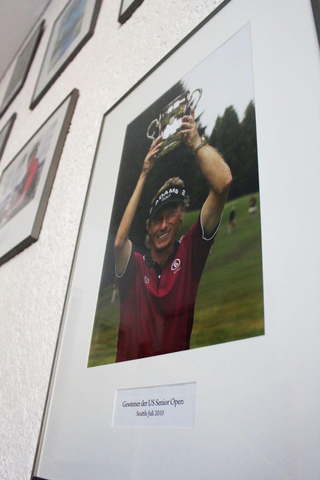 Im Clubhaus sind die größten Momente aus Langers Karriere in Bildern dargestellt (c) Stephan Schöttl