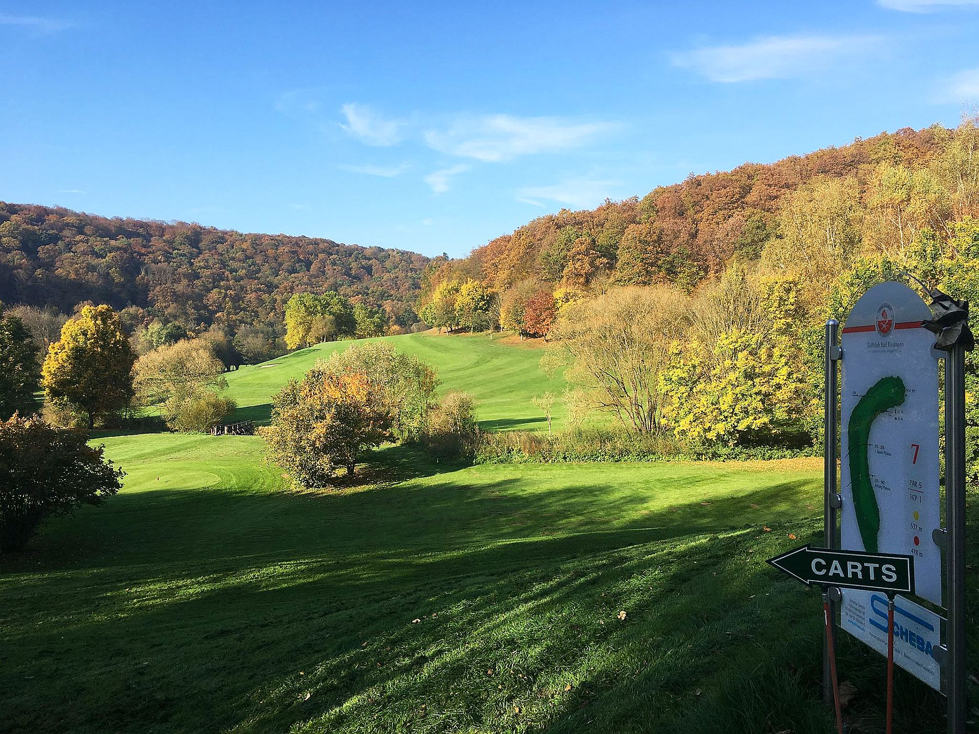 Golfclub Bad Kissingen, Bahn 7/Foto: Dietmar Fella