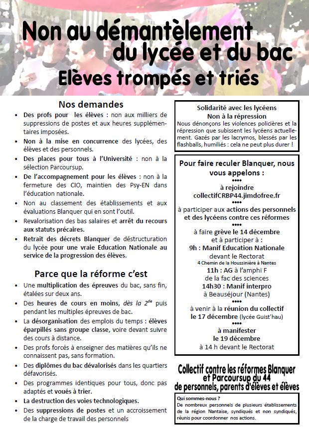 Tract du collectif - 12/12/18
