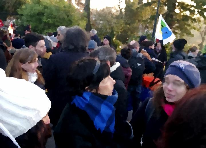 Rassemblement des personnels et élèves devant le Rectorat - 14/12/18