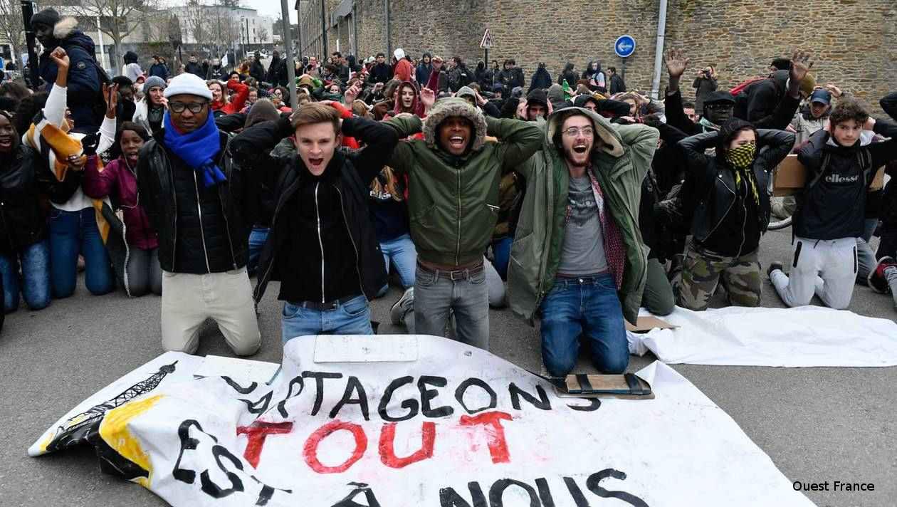 Manif des étudiants (Photo Ouest France) - 13/12/18