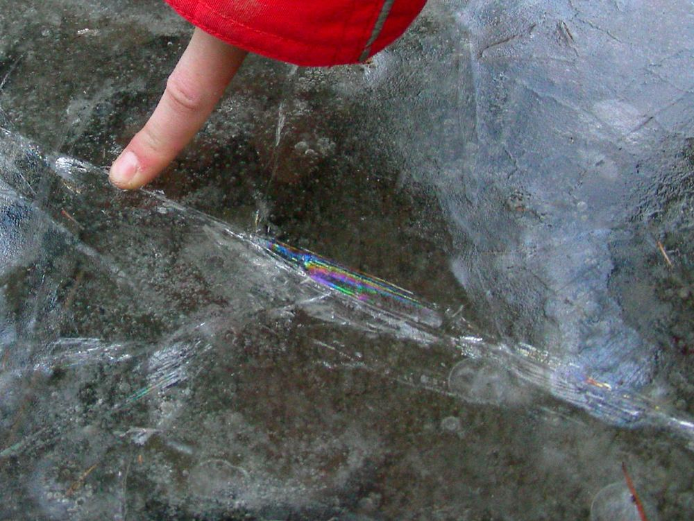 Ein Regenbogen im Eis...