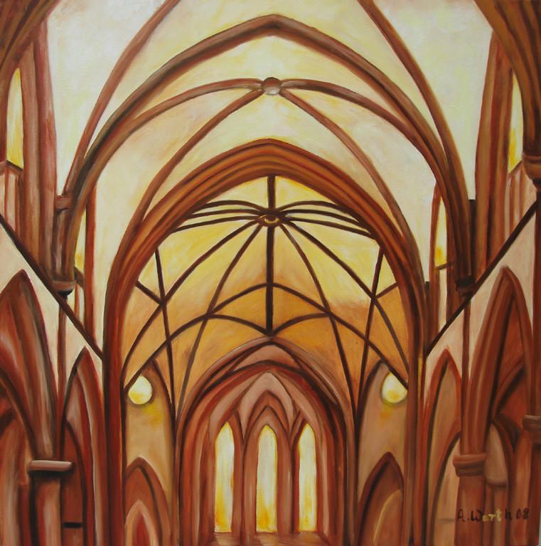 """Kirche """"Peter + Paul"""" innen    2008     80 x 80 cm"""