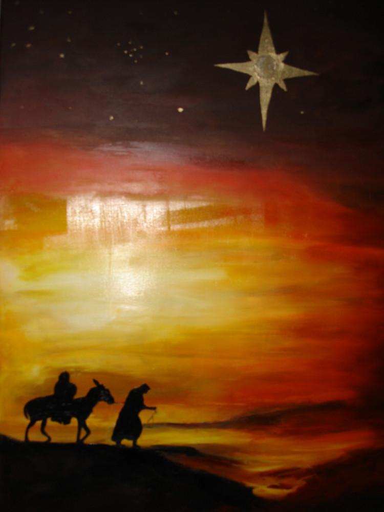 der Weg nach Bethlehem 2014,  Öl 50 x 70 cm