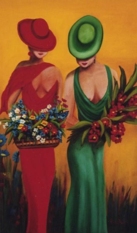 flowergirls   Öl     40 x 60 cm