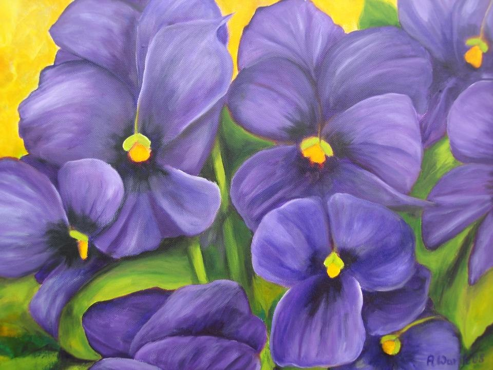 blaue Hornveilchen  2008    50 x 40 cm  (Spende)
