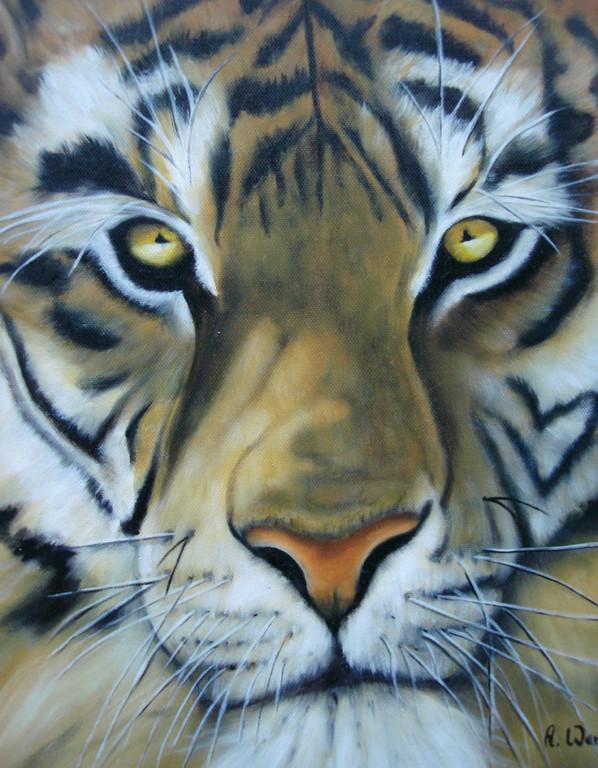 Tiger     2002       24 x 30 cm  Öl