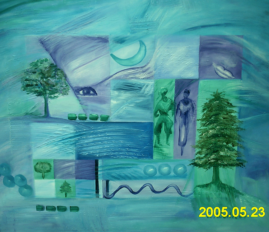 Jonny blue70 x 60 cm     2004