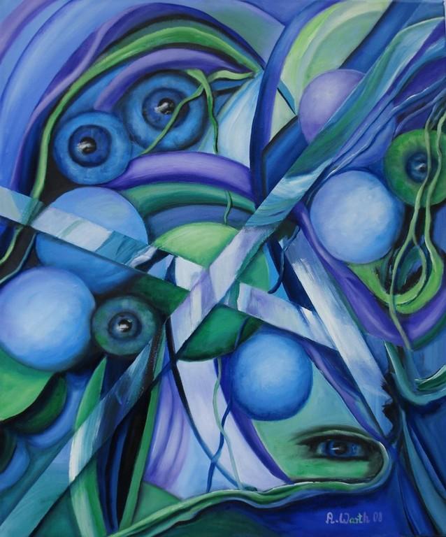 Fantasie in Blau  70 x 100 cm     2008