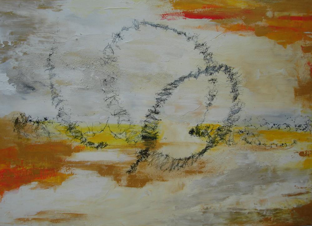 Looping  2016, Acryl gespachtelt  70 x 50 cm