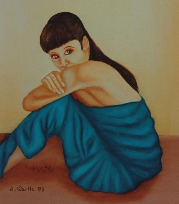 Anna   Öl    1993    40 x 50 cm