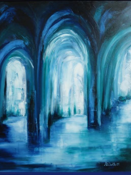 Portale zum Licht   100 x 120 cm     2001
