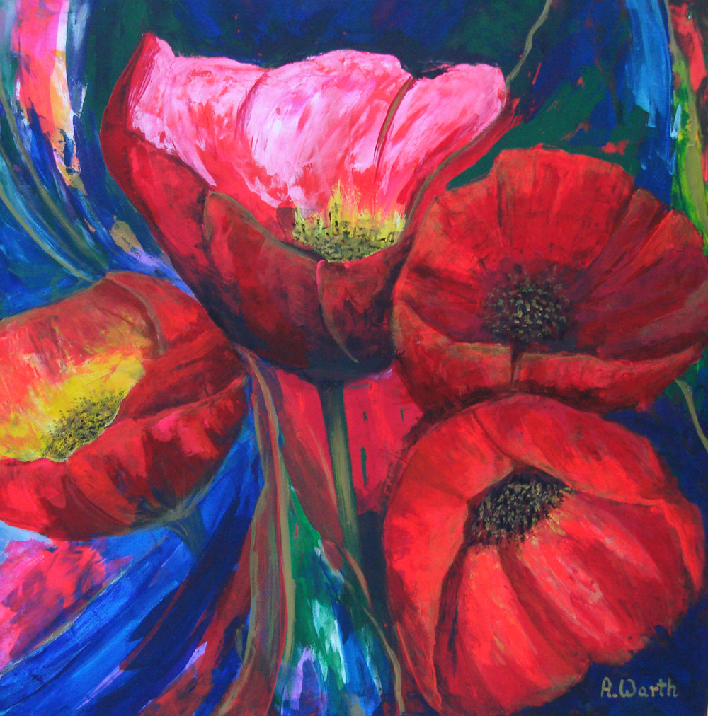 Flower Power  2016   Acryl  80 x 80 cm
