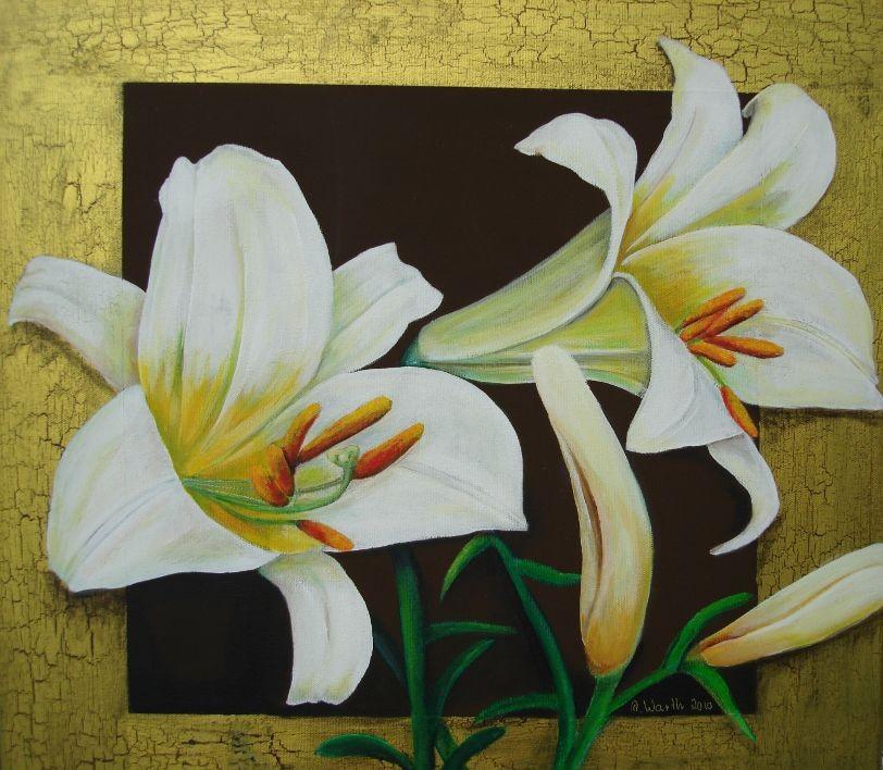 Lilien   2011      60 x 60 cm