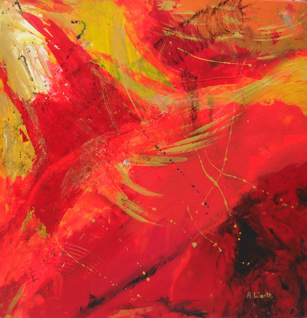 Wings 2016, Acryl gespachtelt   80 x 80 cm