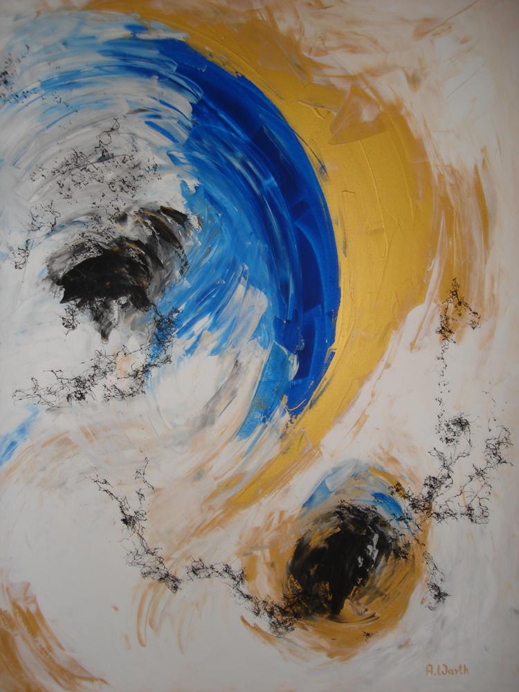 Universum 2016 Acryl gespachtelt 80 x 100 cm