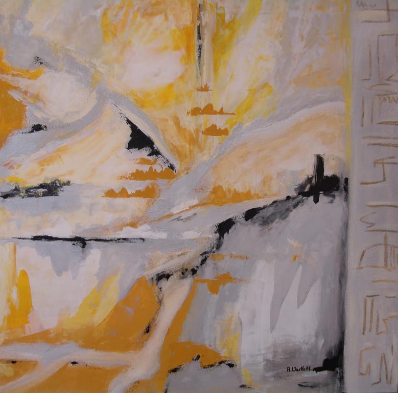 Wüstenwege  90 x 90 cm      2011