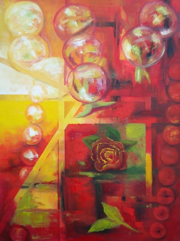 Seifenblasen-Rose   60 x 80 cm    2008