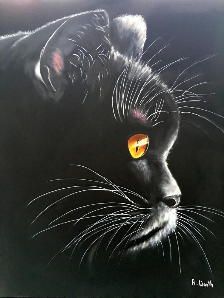 Luna 2016    50 x 60 cm Öl/Acryl
