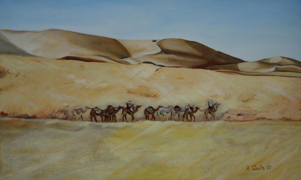 Karawane  2002  Öl  70 x 50 cm