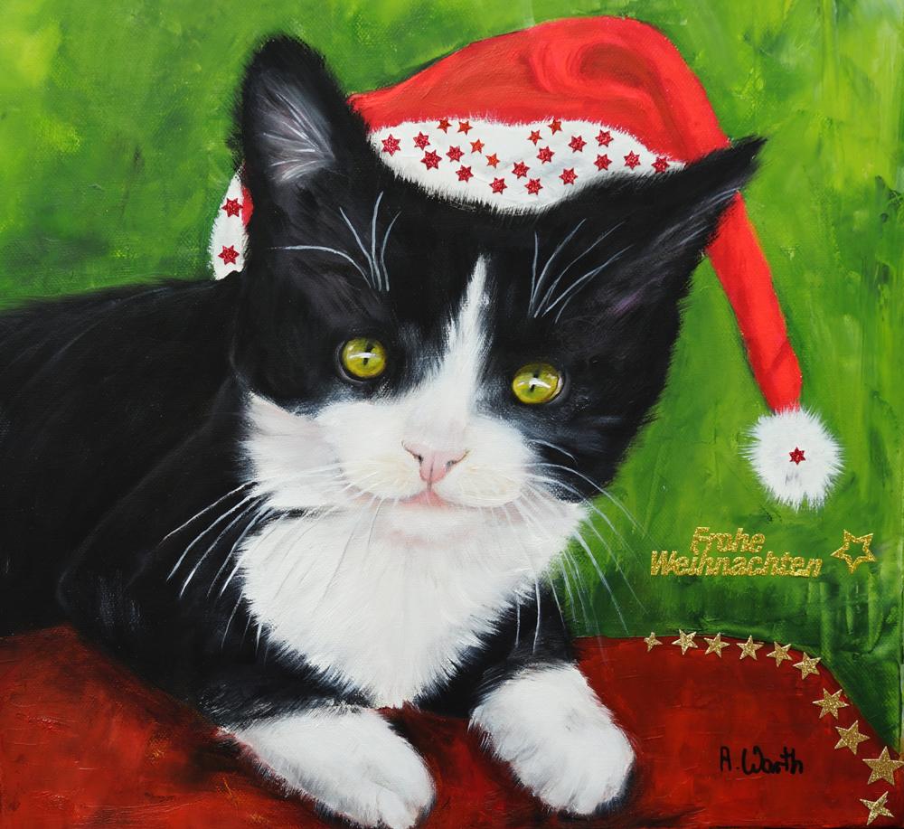Bella... schöne Weihnachten  2017  50 x 50 cm Öl
