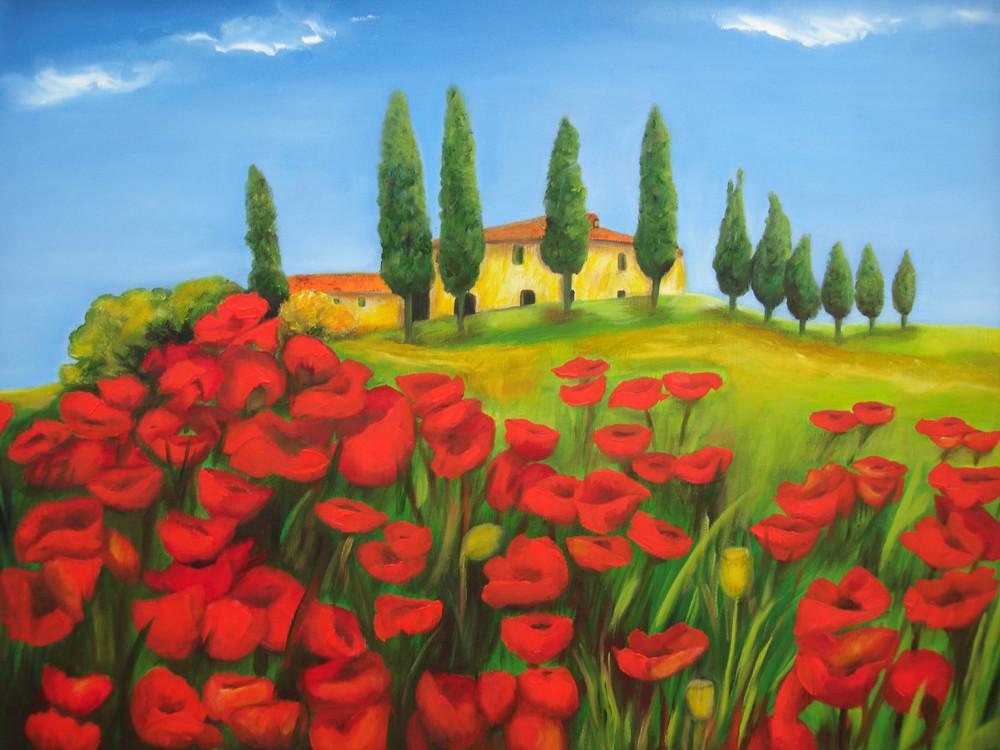 Toscana  80 x 60 cm,  2010  Öl
