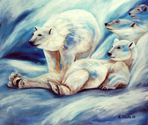 Eisbären  2005   Öl   100 x 80