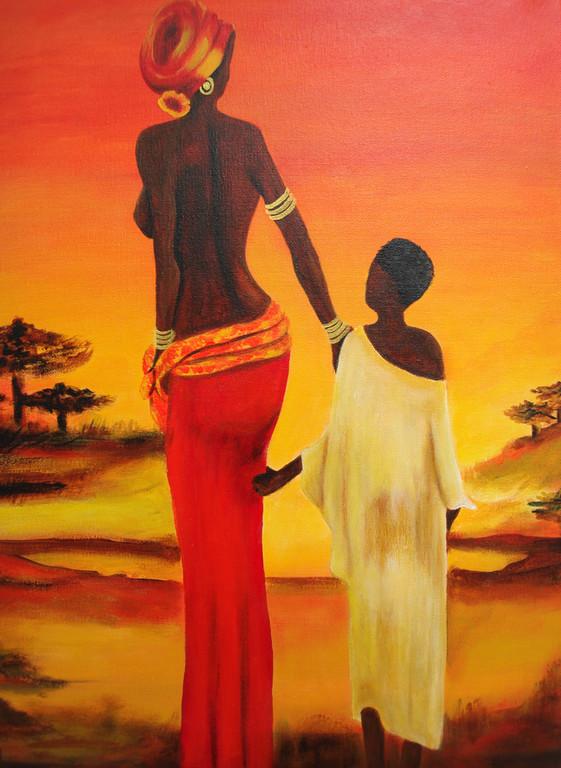 Afrika   2010       40 x 60 cm   Acryl