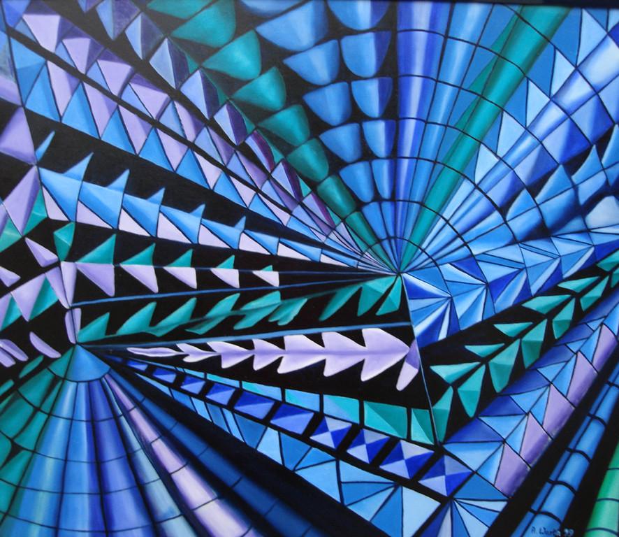 Raum und Zeit   80 x 70 cm      1999