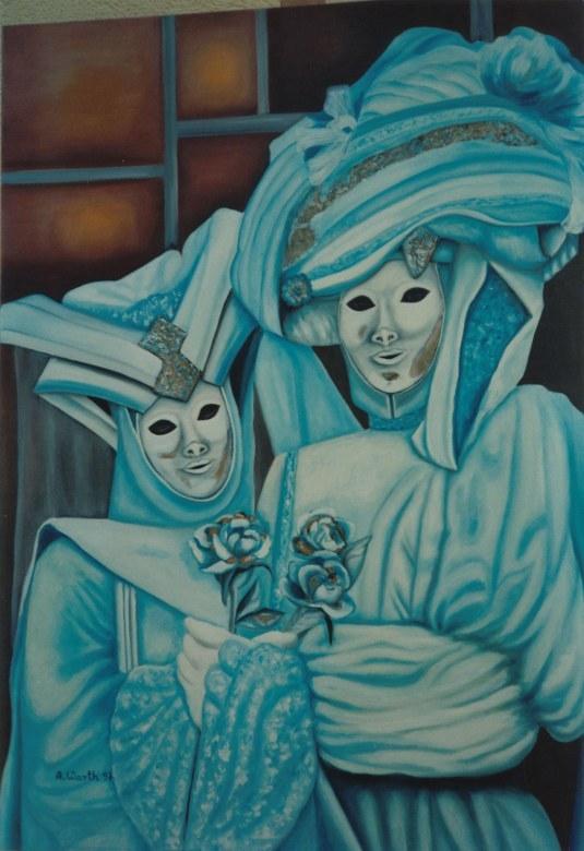 Carneval in Venedig 1997 60 x 80 cm