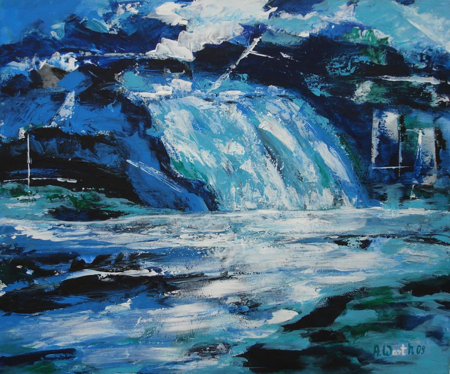 Wasserfall    60 x 50 cm   2009