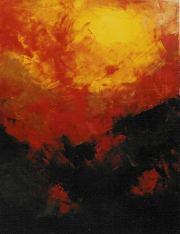 Feuerwolke  50 x 60 cm   2001