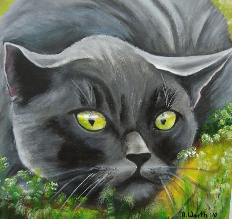 auf der Lauer  2010     30 x30 cm  Acryl