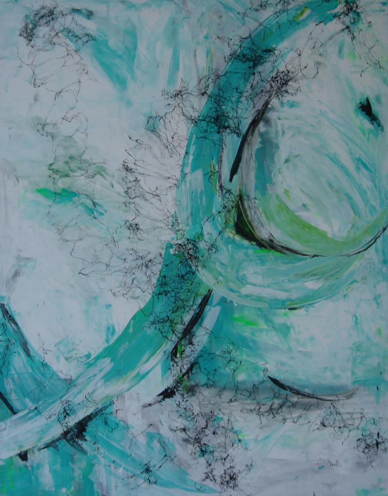 ohne Titel I, 2016 Acryl gespachtelt 80 x 100 cm