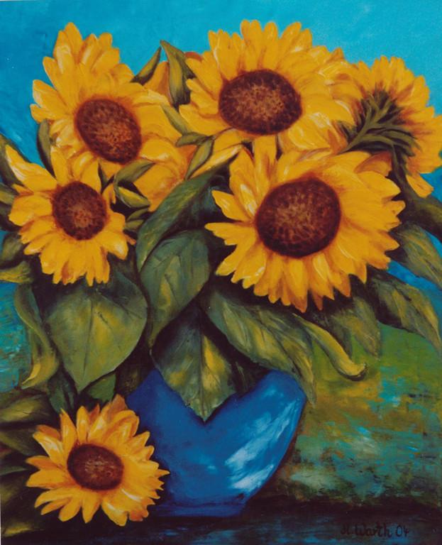 Sonnenblumen  2004    50 x60 cm