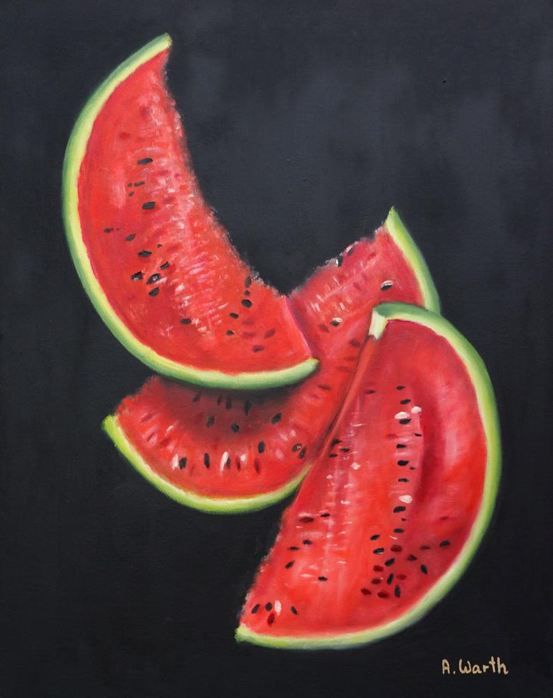 Melonen 2018 Öl 40 x 50 cm