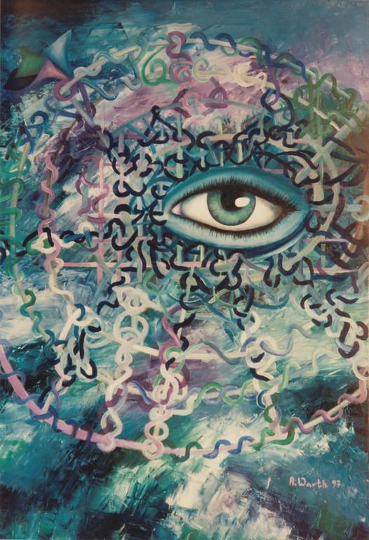 Auge im Chaos I   80 x 100 cm   1997