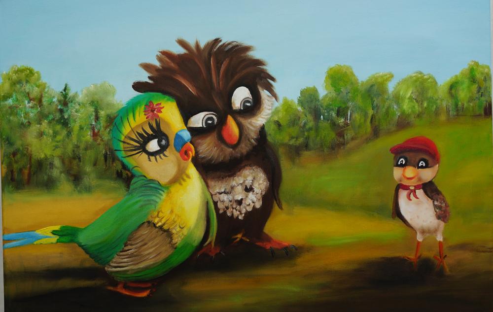 """nachempfunden aus Animationsfilm """"Überflieger - Kleine Vögel..."""