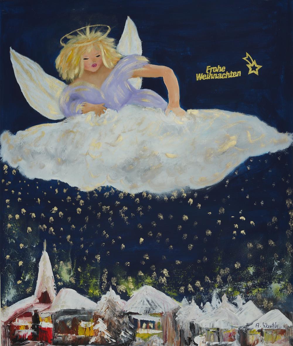 Frohe Weihnachten  2017  50 x 70 cm auf Papier