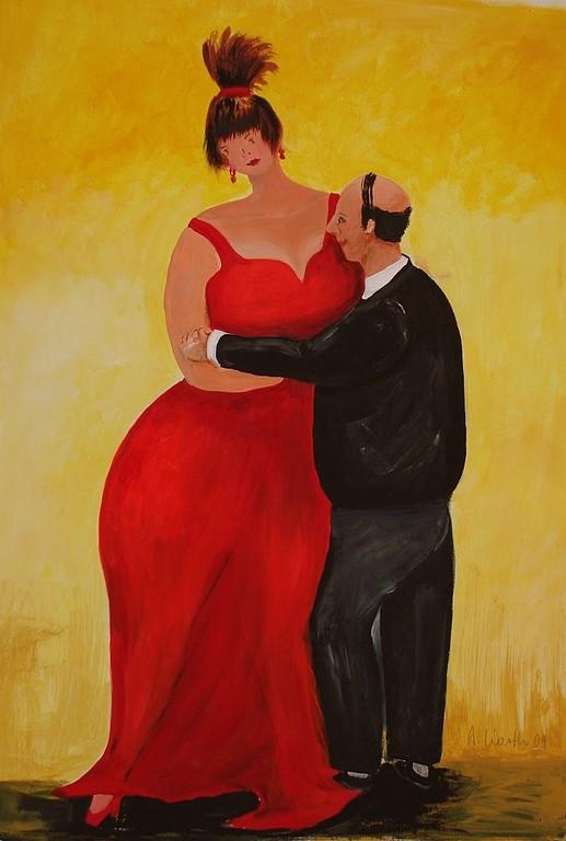 let`s dance    2009    50 x 70 cm   Acryl auf Papier
